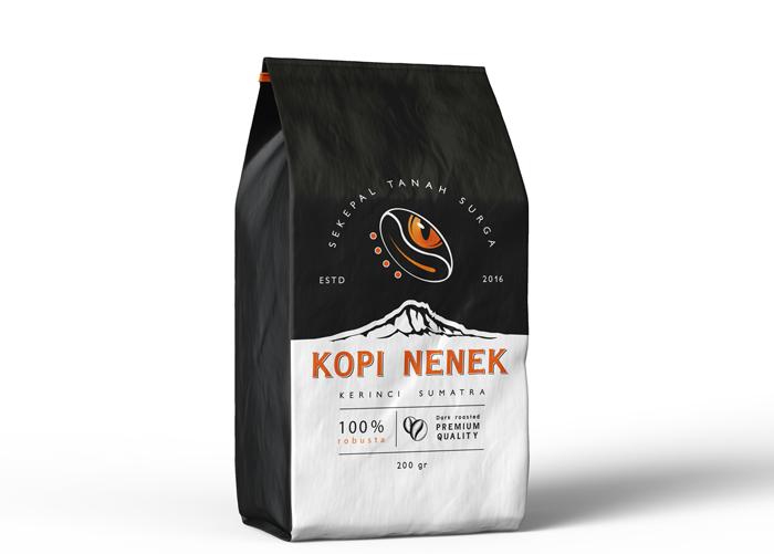 packagin cafe sumatra kopi nenek par agence de branding om-go