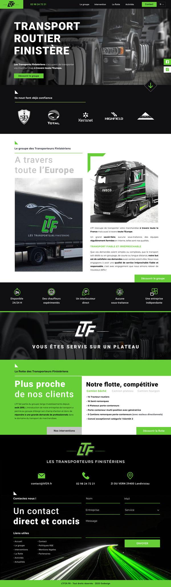 webdesign original site vitrine ltg omgo branding