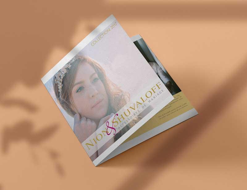 Catalogue mettant en avant les bijoux de la collection de l'année pour Nion & Shuvaloff