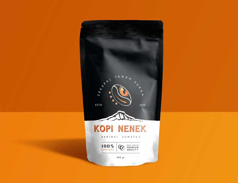Création du packaging complet d'une marque de cafe de Sumatra