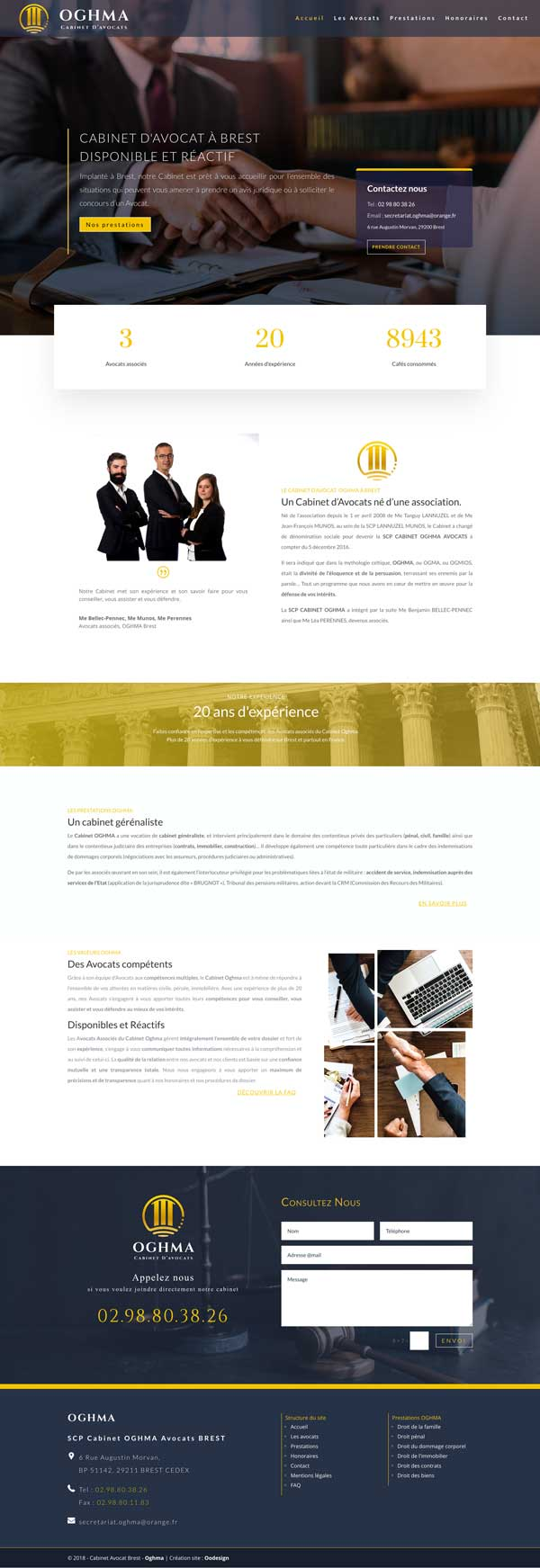 creation site web cabinet avocat brest par omgo branding