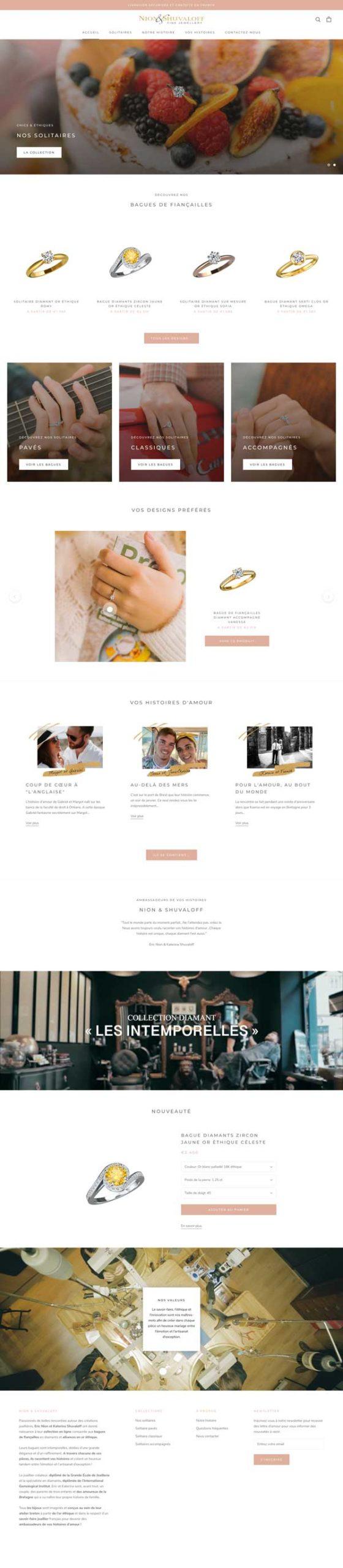 creation site joaillerie par omgo branding