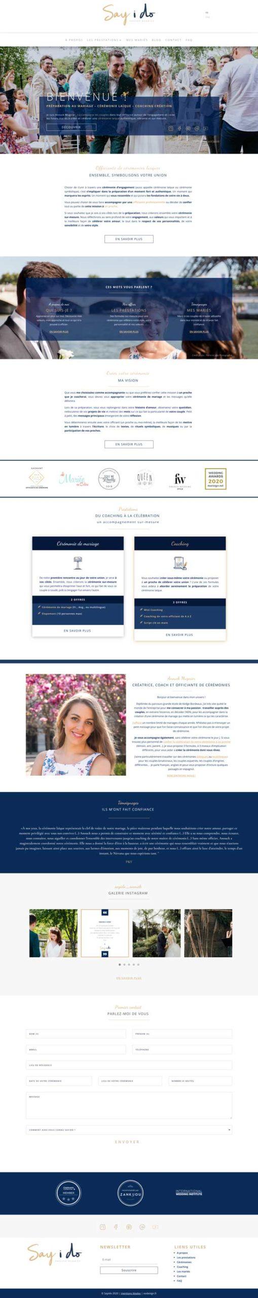 projet de design graphique creation site internet mariage