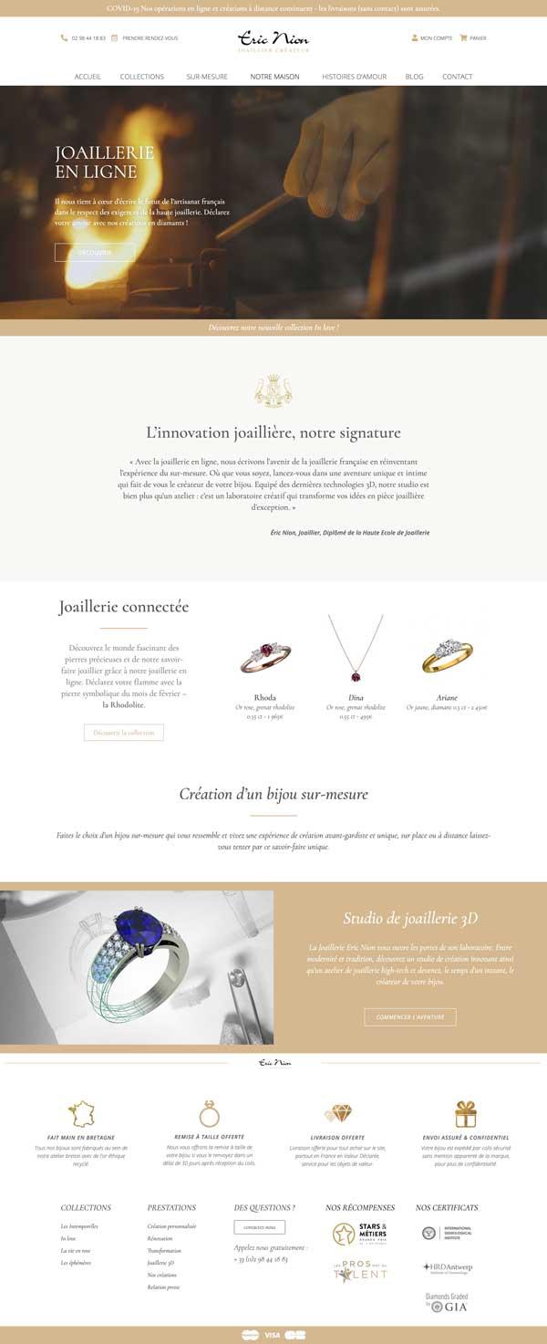 creation site internet pour joaillerie omgo branding