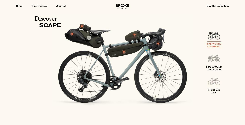 site web e-commerce vélo inspiration webdesign