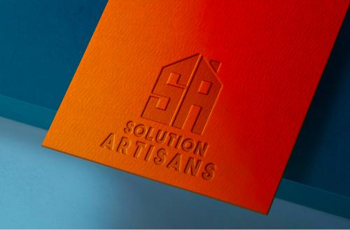 mockup solution artisans création logo Brest